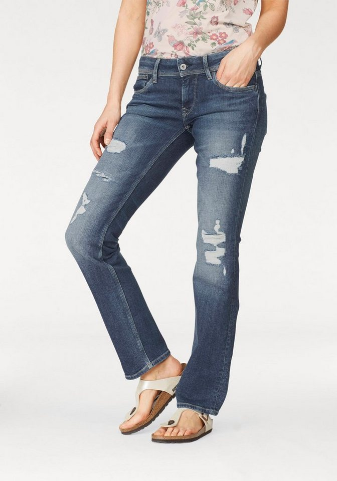 pepe jeans straight jeans saturn mit auff lligen. Black Bedroom Furniture Sets. Home Design Ideas