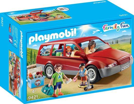Playmobil® Konstruktions-Spielset »Familien-PKW (9421), Family Fun«, Made in Europe