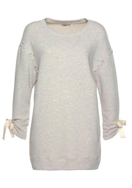 Damen LTB Sweatshirt KEZOMI mit Zierperlen grau | 08697600694634