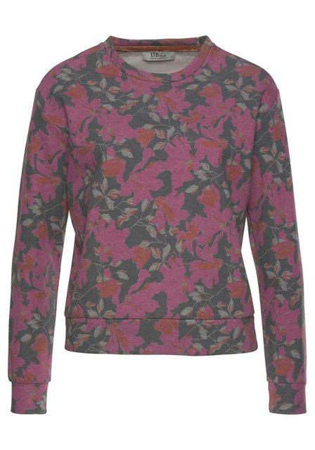Damen LTB Sweatshirt KODEMO mit Blumen-Print rosa | 08697600733975