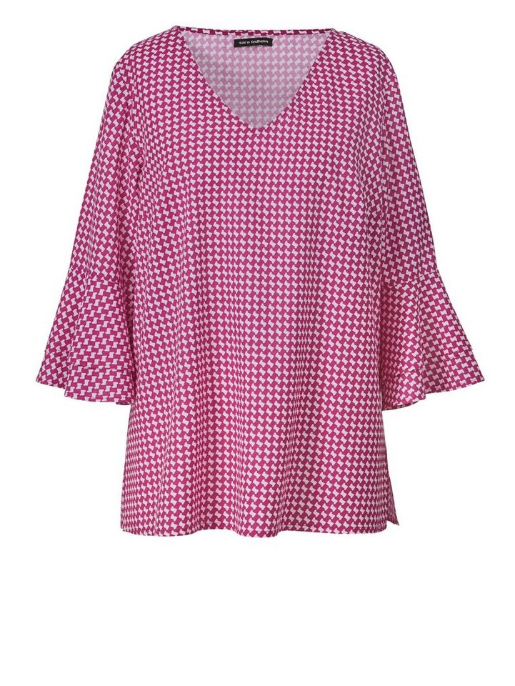Sara Lindholm by Happy Size Bluse mit Allover-Print   Volants online ... 66eda62609