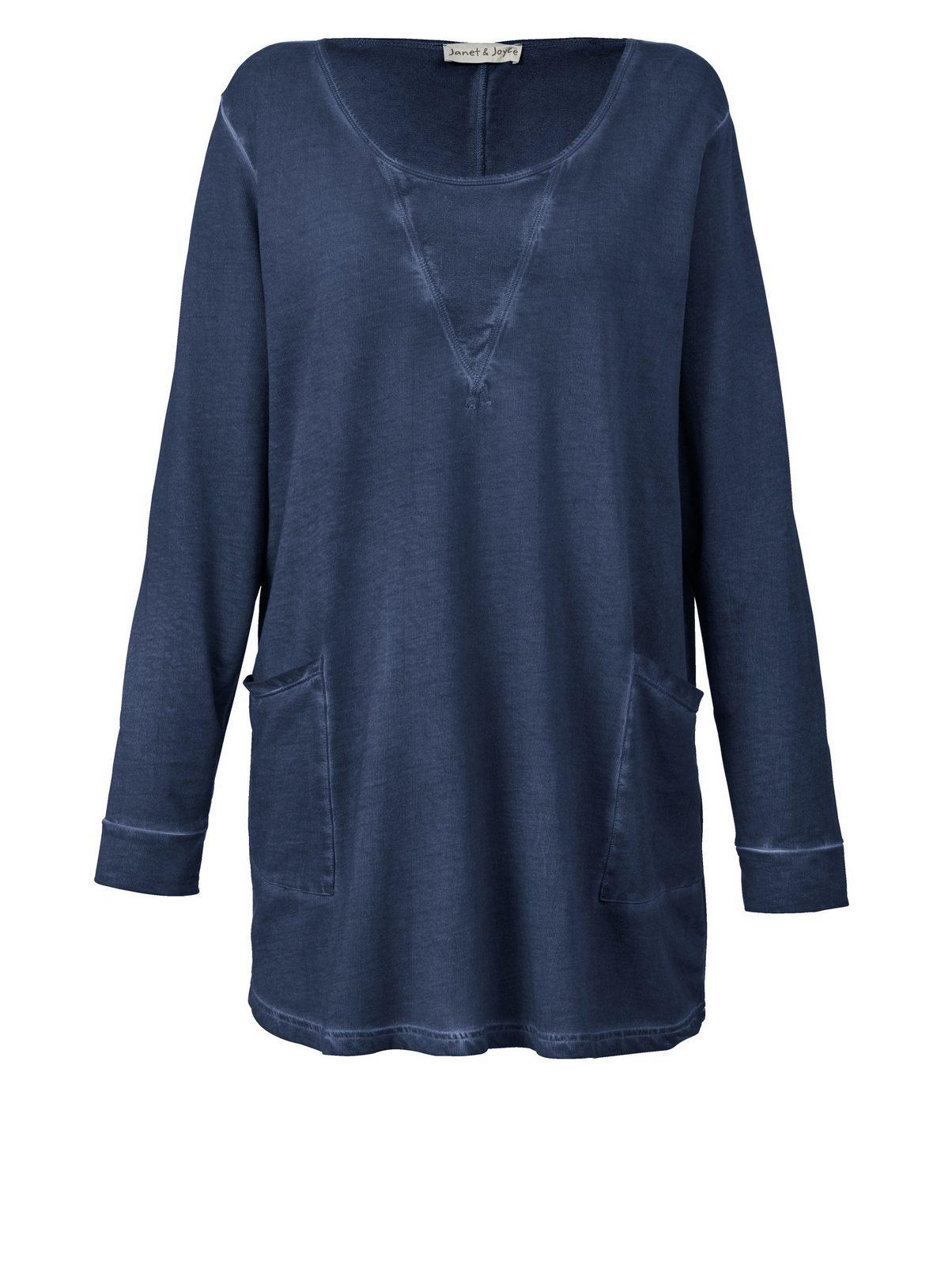 Janet und Joyce by Happy Size Long-Sweatshirt oil wash