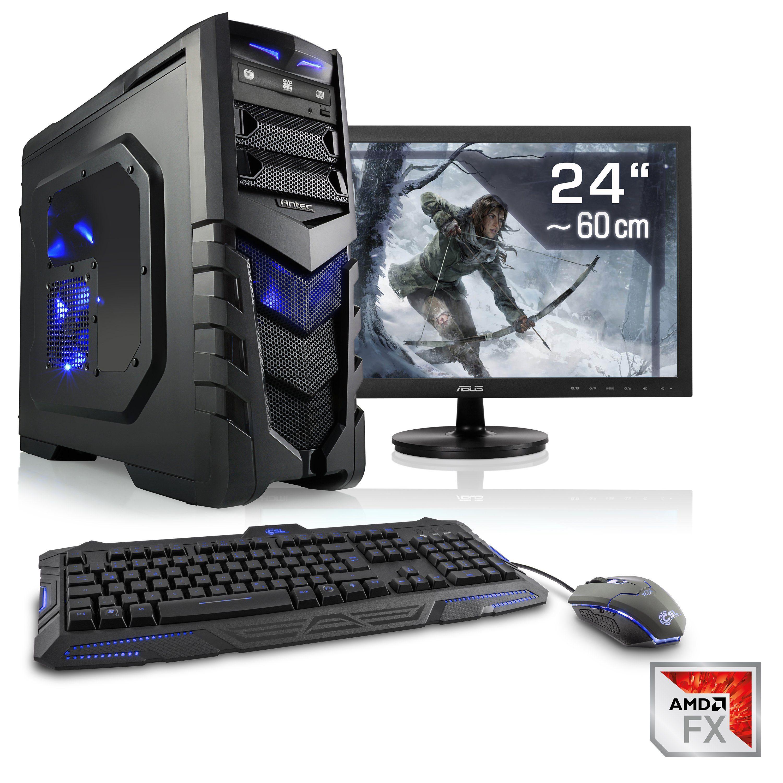 "CSL Gaming PC Set | AMD FX-8350 | GTX 1060 | 16 GB RAM | 24"" TFT »Sprint T6692 Windows 10 Home«"
