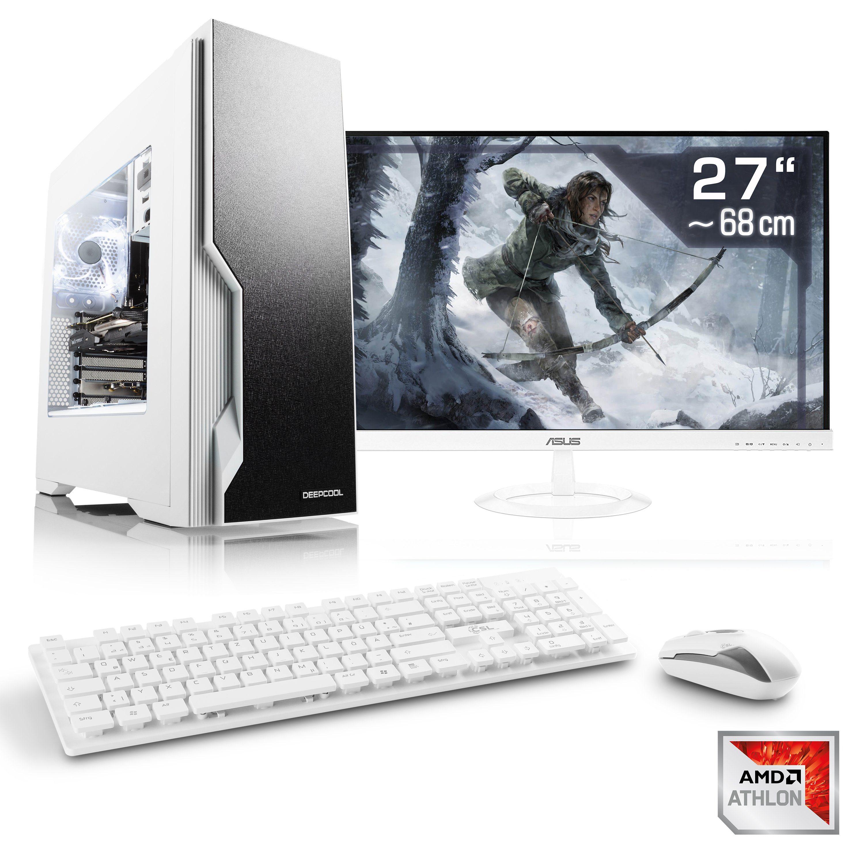 "CSL Gaming PC Set Athlon X4 950 | GTX 1050 Ti | 16GB RAM | 27"" TFT »Sprint T4661 Windows 10 Home«"