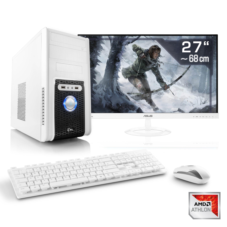"CSL Gaming PC Set | Athlon X4 950 | GTX 1050 | 8GB RAM | 27"" TFT »Sprint T4854 Windows 10 Home«"