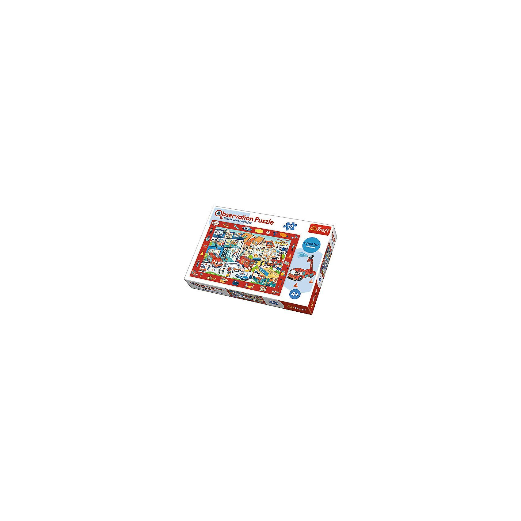 Trefl Observation Puzzle - Feuerwache (70 Teile)