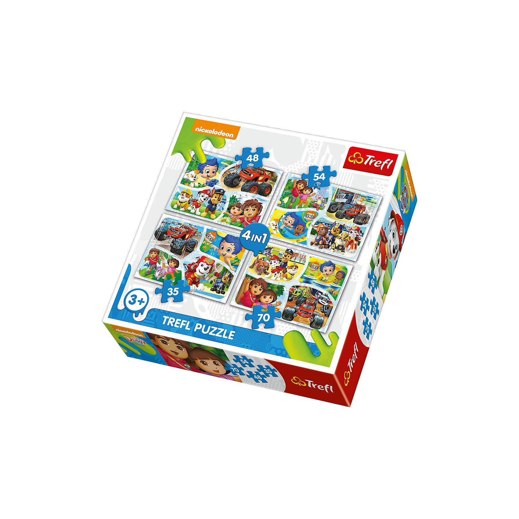 Trefl 4in1 Puzzle - Nickelodeon (35/48/54/70 Teile)