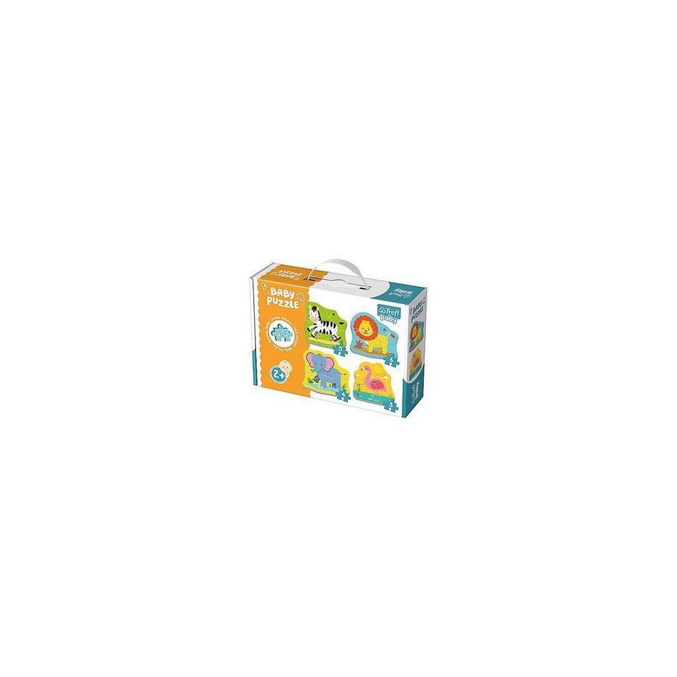 Trefl Baby Puzzle - Safaritiere (3/4/5/6 Teile)