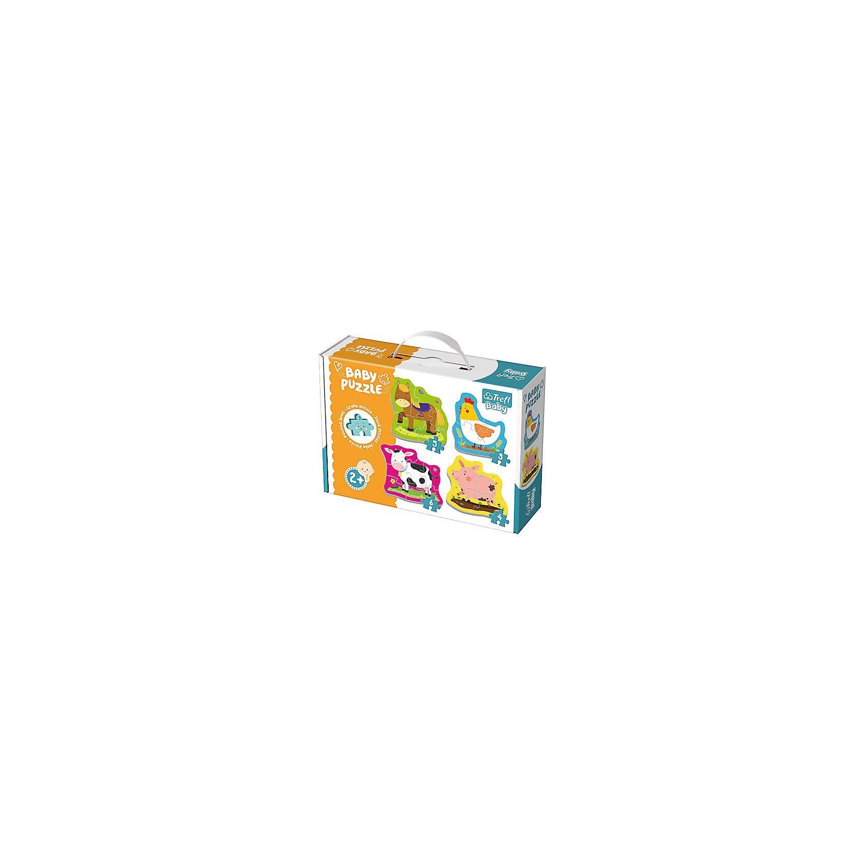 Trefl Baby Puzzle - Bauernhoftiere (3/4/5/6 Teile)