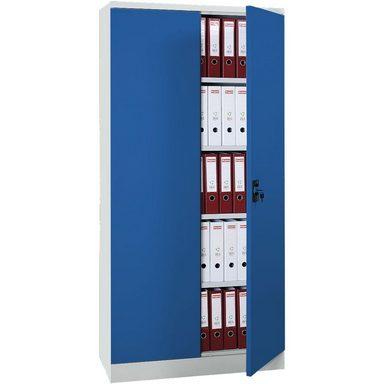 GUERKAN Stahlschrank blau mit Flügeltüren 1 Set