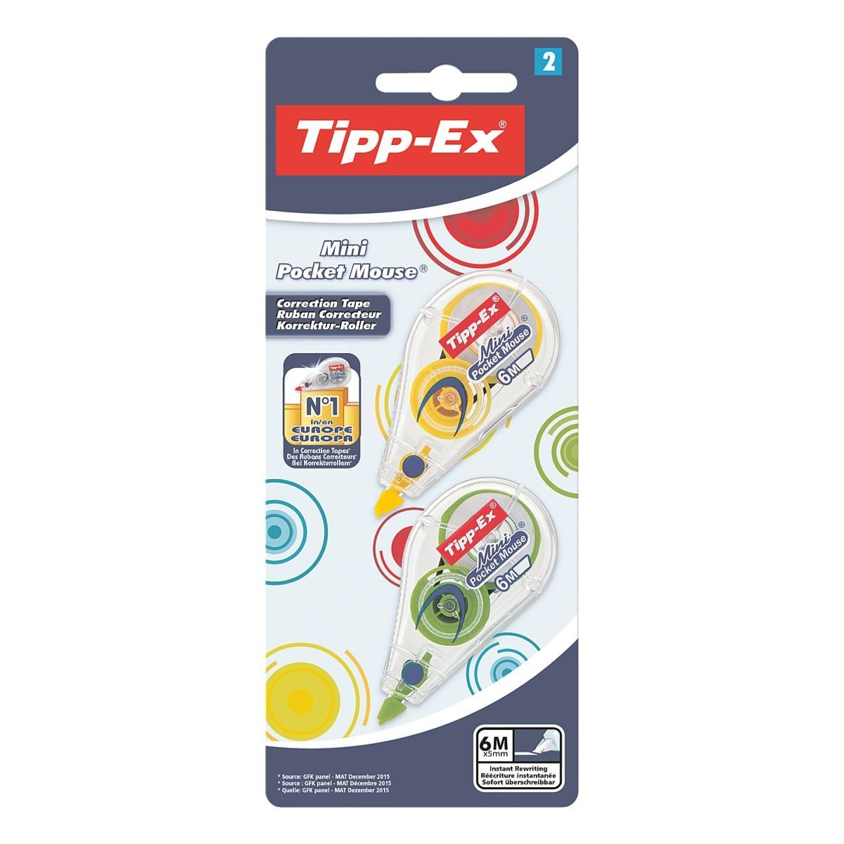 TIPPEX 2er-Pack Korrekturroller »Mini Pocket Mouse Fashion«