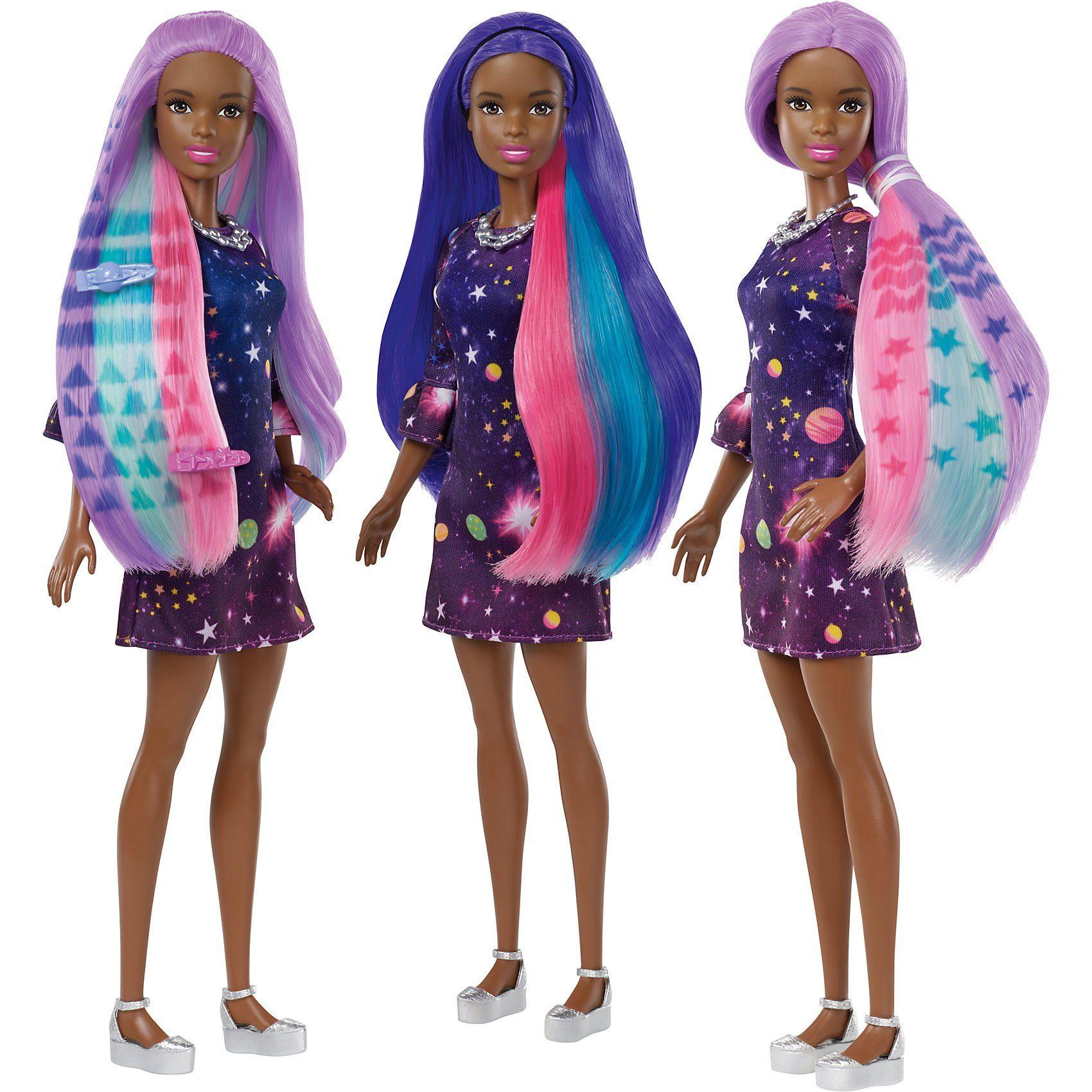 Mattel® Barbie Haarfarben-Spaß Puppe (brünett)