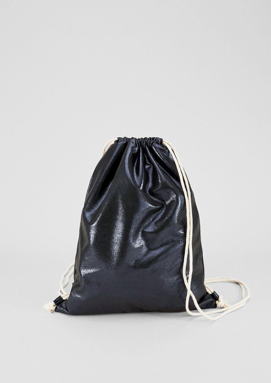 s.Oliver RED LABEL Gym Bag in Metallic-Optik