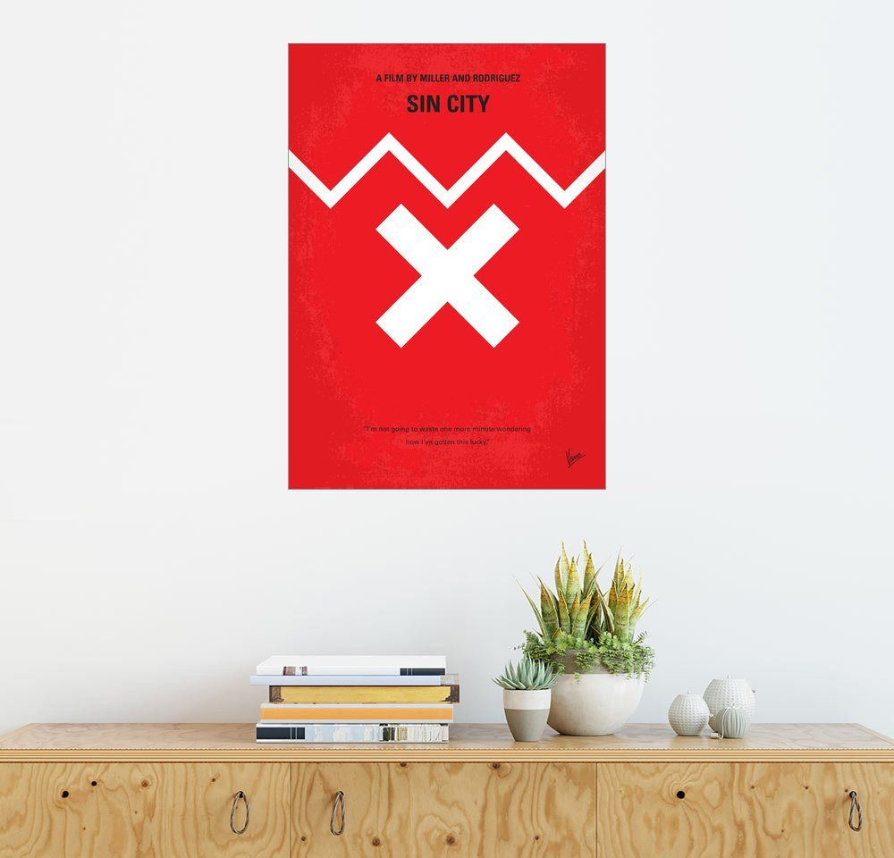 Posterlounge Wandbild - chungkong »No304 My SIN CITY minimal movie poster«