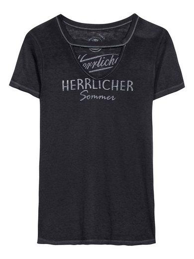 Herrlicher T-Shirt mit raffiniertem Ausschnitt »Belynda«