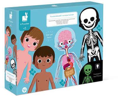 Janod Konturenpuzzle »Der menschliche Körper«, 225 Puzzleteile