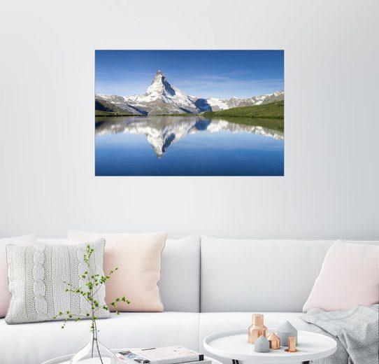 Posterlounge Wandbild - Jan Christopher Becke »Stellisee und Matterhorn bei Zermatt, Schweiz«