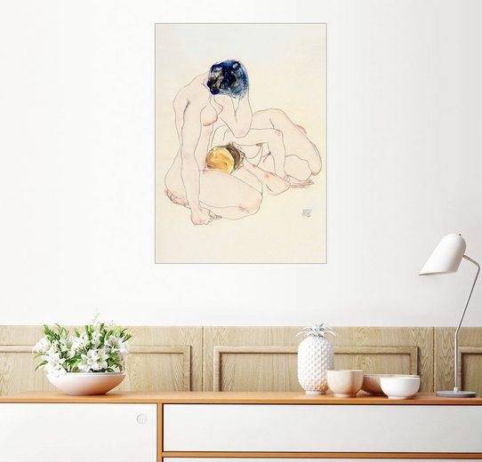 Posterlounge Wandbild - Egon Schiele »Zwei Freundinnen«