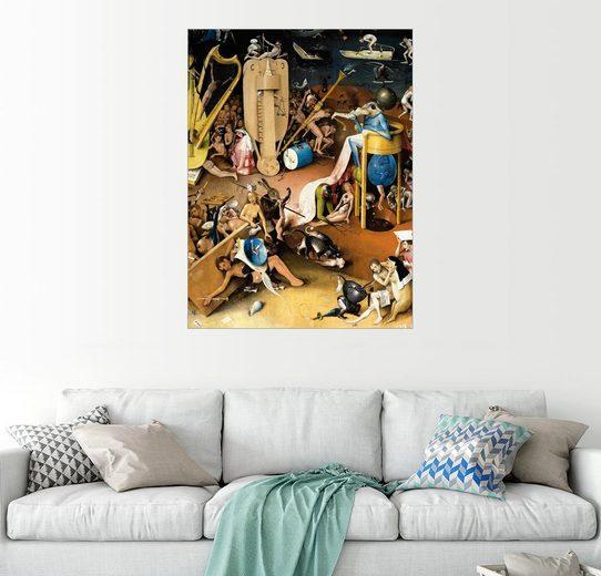 Posterlounge Wandbild - Hieronymus Bosch »Garten der Lüste, die Hölle(Detail)«