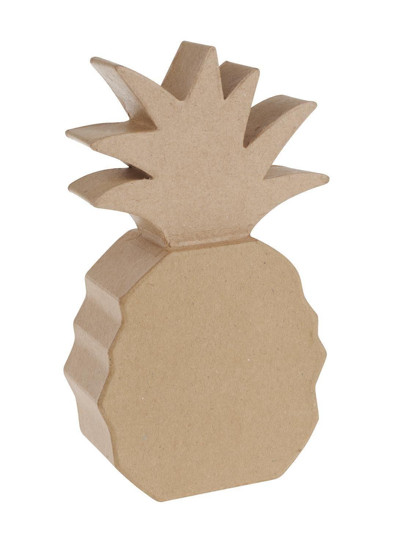 """Pappmaché Objekt """"Ananas"""" 16 cm hoch"""