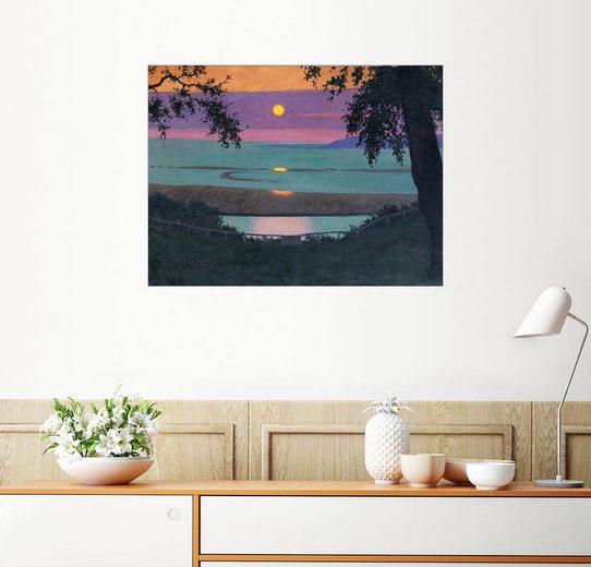 Posterlounge Wandbild - Felix Edouard Vallotton »Sonnenuntergang«