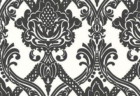 Vliestapete, Livingwalls, »Mustertapete Black and White, klassisch, neo-barock«