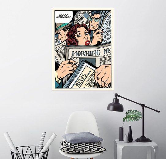 Posterlounge Wandbild »Morgenzeitungen«