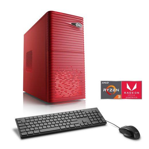 CSL Multimedia PC | Ryzen 3 2200G | Vega 8 Grafik | 16GB DDR4 | SSD »Sprint T8566 Windows 10 Home«