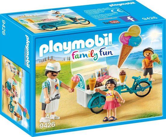 Playmobil® Konstruktions-Spielset »Fahrrad mit Eiswagen (9426), Family Fun«, Made in Europe