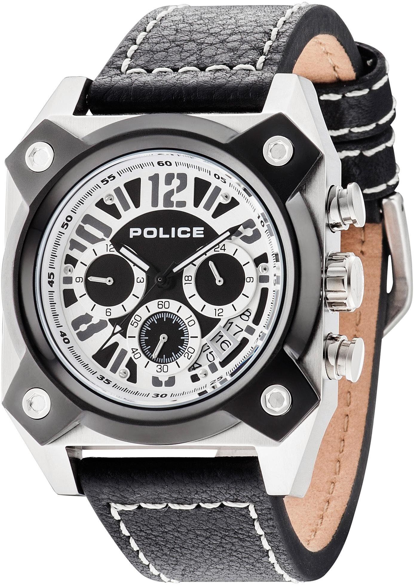 Police Multifunktionsuhr »HELLCAT, PL14691JSTB.02« mit kleiner Sekunde