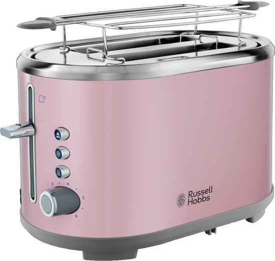 RUSSELL HOBBS Toaster Bubble Soft Pink 25081-56, 2 kurze Schlitze, für 2 Scheiben, 930 W
