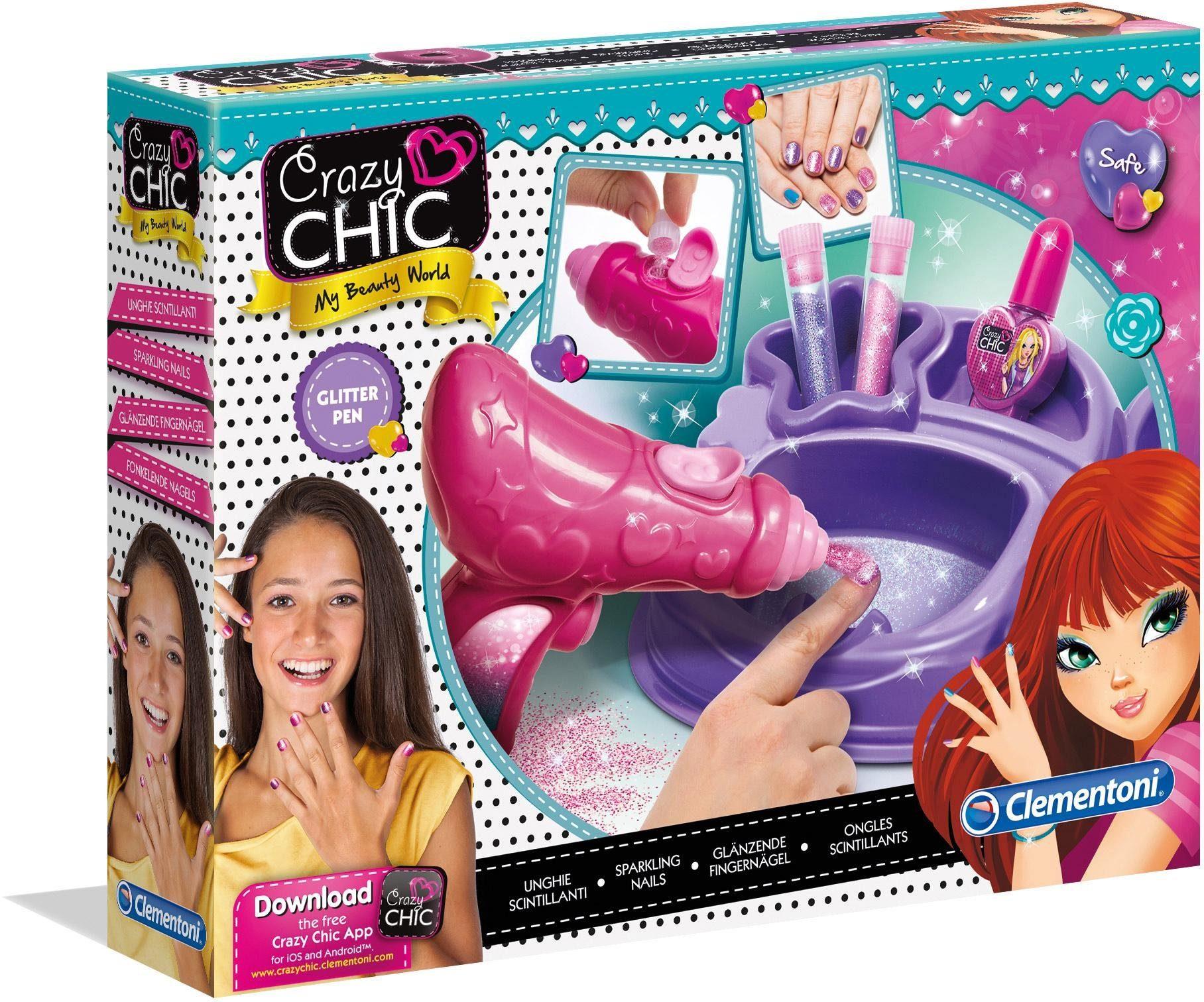 Clementoni Nageldesignstudio, »Crazy Chic Glitzernägel«