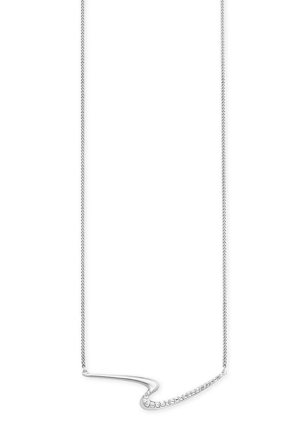 CAÏ Kette mit Anhänger »caï women, fluid curves, C1872N/90/93/45« mit Topasen