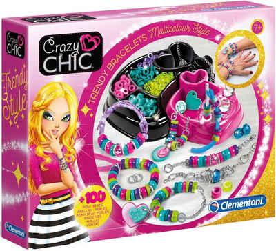 Clementoni® Kreativset »Crazy Chic - Trendige Perlenarmbänder«, (Set), Auch als Geschenk verwendbar; Made in Europe