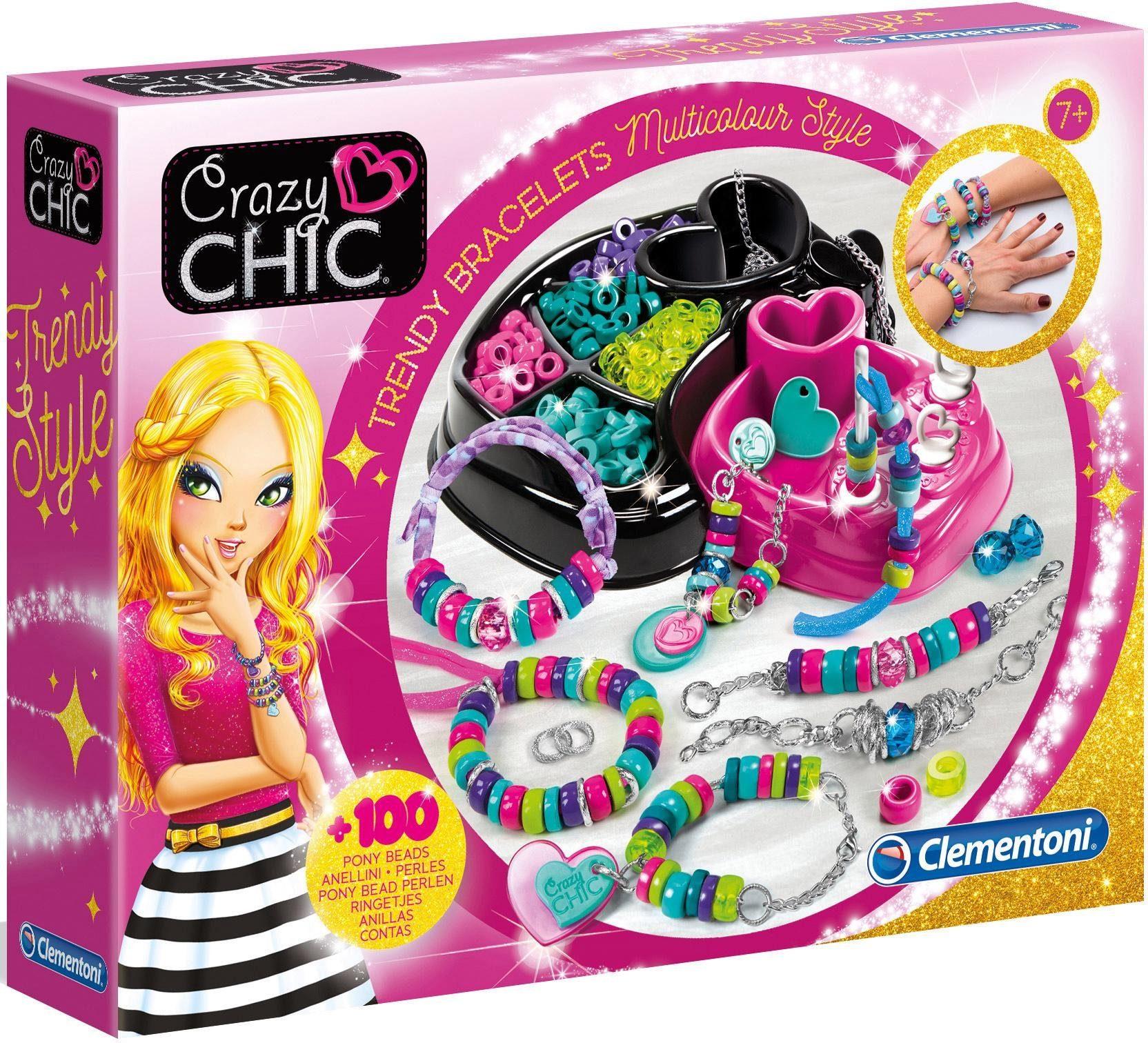 Clementoni Kreativset, »Crazy Chic Trendige Perlenarmbänder«