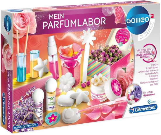 Clementoni® Experimentierkasten »Galileo - Mein Parfümlabor«