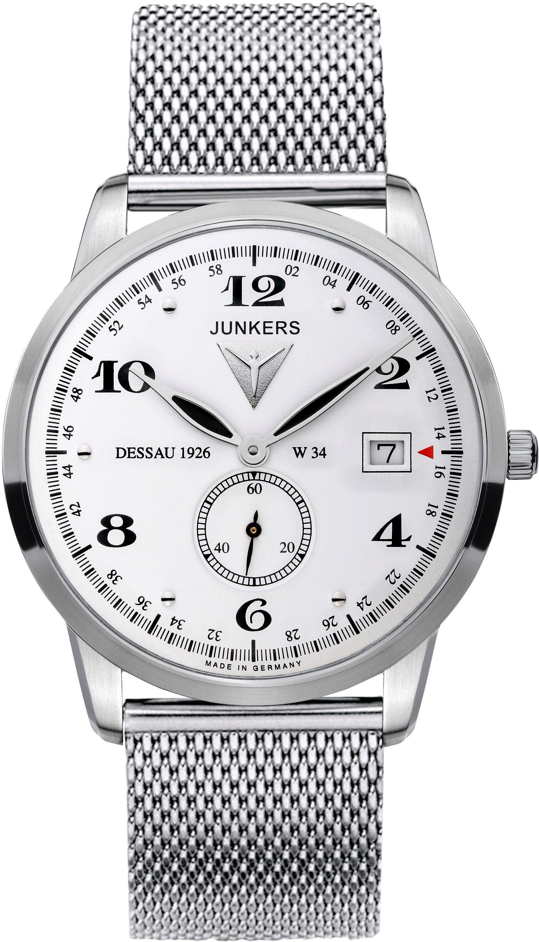 Junkers-Uhren Quarzuhr »Junkers Dessau 1926 Flatline, 6334M-1« made in Germany