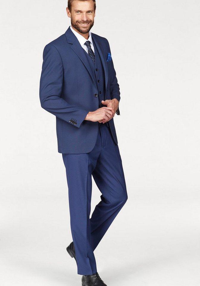 Leistungssportbekleidung neuer Stil & Luxus neue Kollektion Class International Anzug 3-teilig (3-tlg., mit Weste) Dezentes Pinpoint-  Muster online kaufen | OTTO