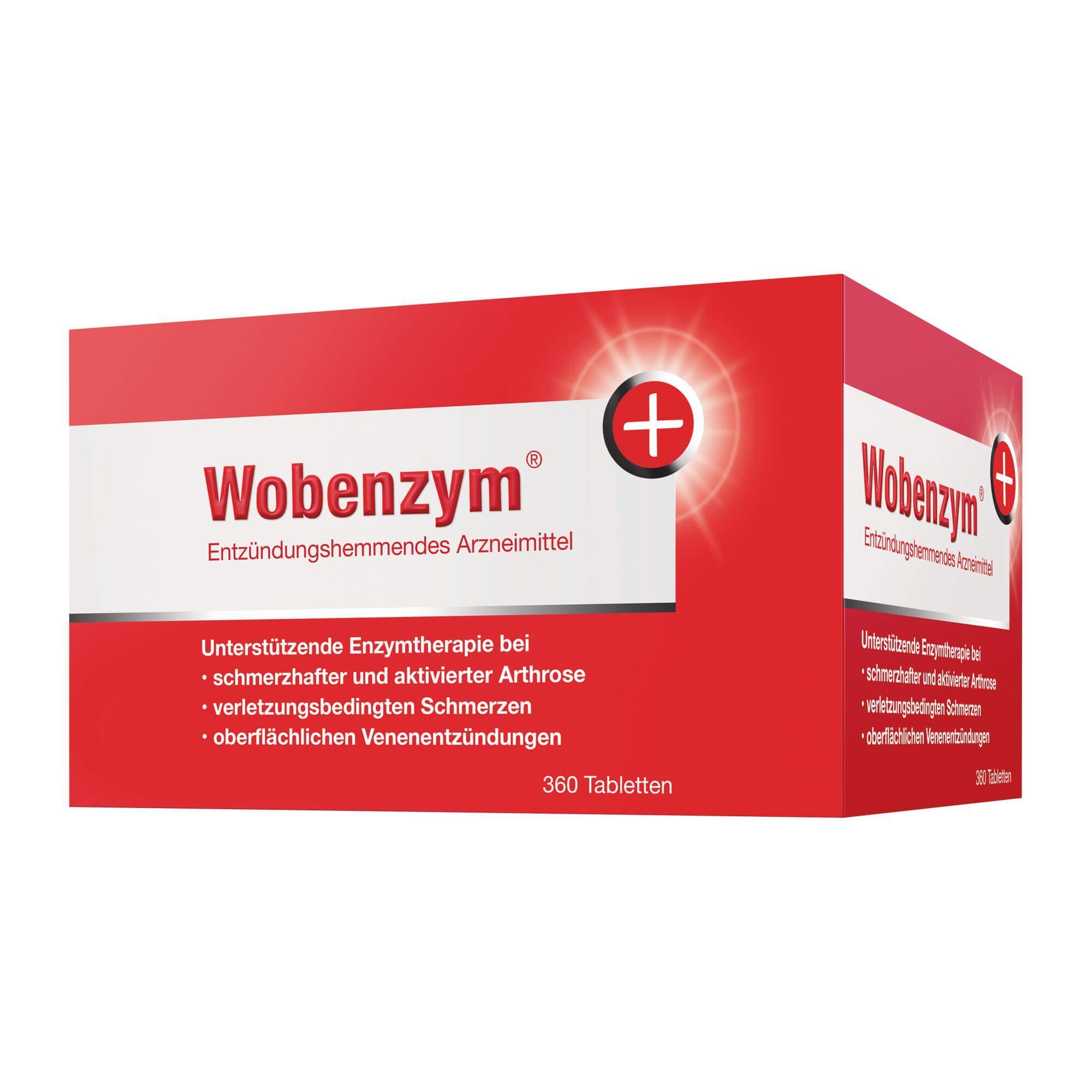 Wobenzym magensaftresistente Tabletten, 360 St