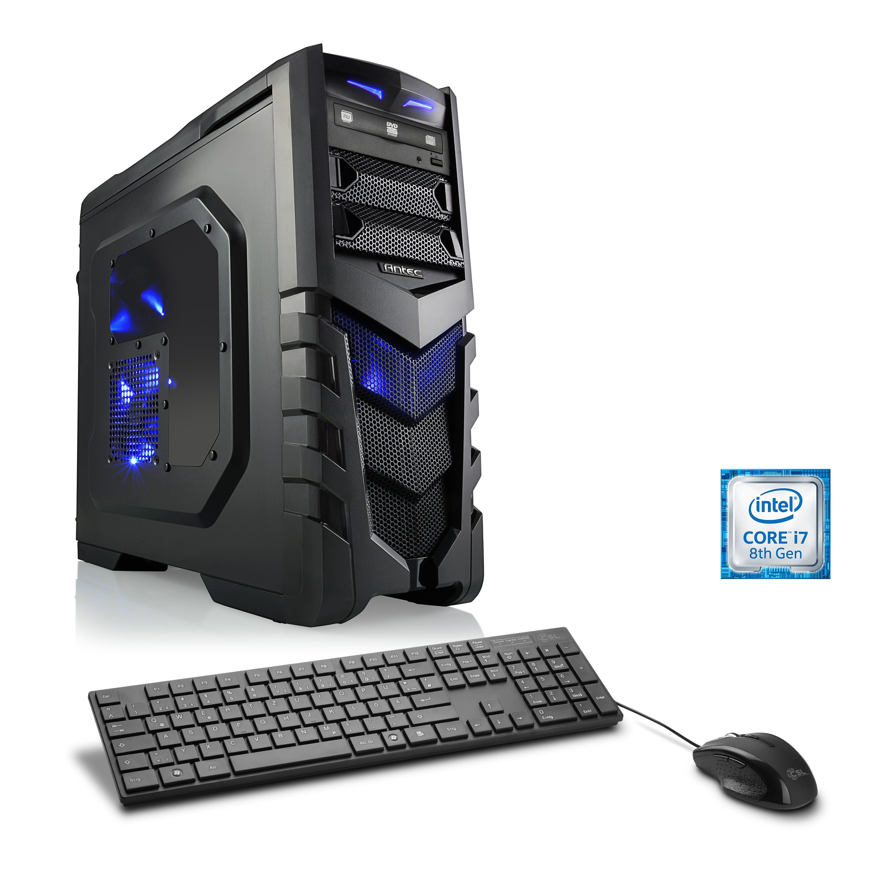 CSL Gaming PC Intel Core i7-8700K | GTX 1070 | 8GB DDR4 | 120GB SSD »HydroX T9770 Wasserkühlung«