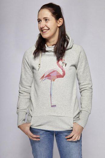 Mazine Kapuzenpullover mit schönem Flamingo-Motiv »Lakewood«