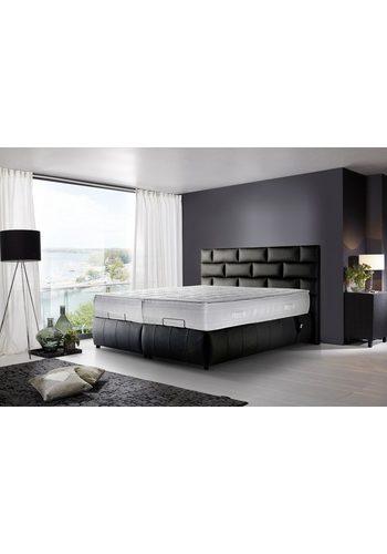 Kasper-Wohndesign Boxspringbett elektrisch Echtleder schwarz versch. Größen RELLA  | 04250385970061