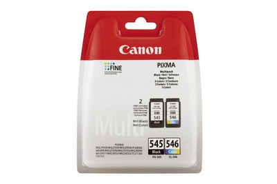 Canon CANON PG-545 / CL-546 Tinte schwarz und farbig »Multipack 8 ml schwarz und 9 ml farbig«