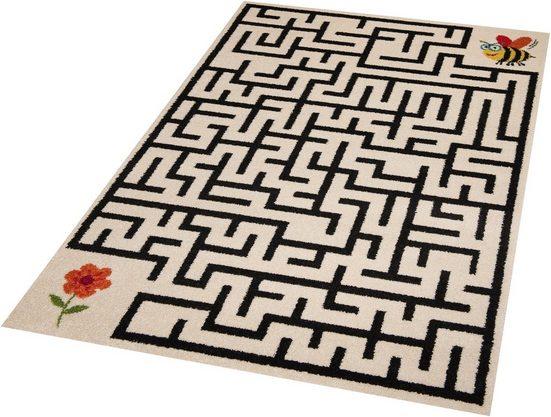 Kinderteppich »Labyrinth«, Zala Living, rechteckig, Höhe 9 mm, Spielteppich, besonders weich durch Microfaser