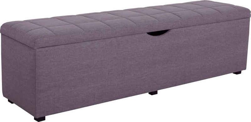 Places of Style Hockerbank »Checked«, mit Stauraum, Breite 120 cm und 160 cm, auch als Garderobenbank oder Bettbank geeignet