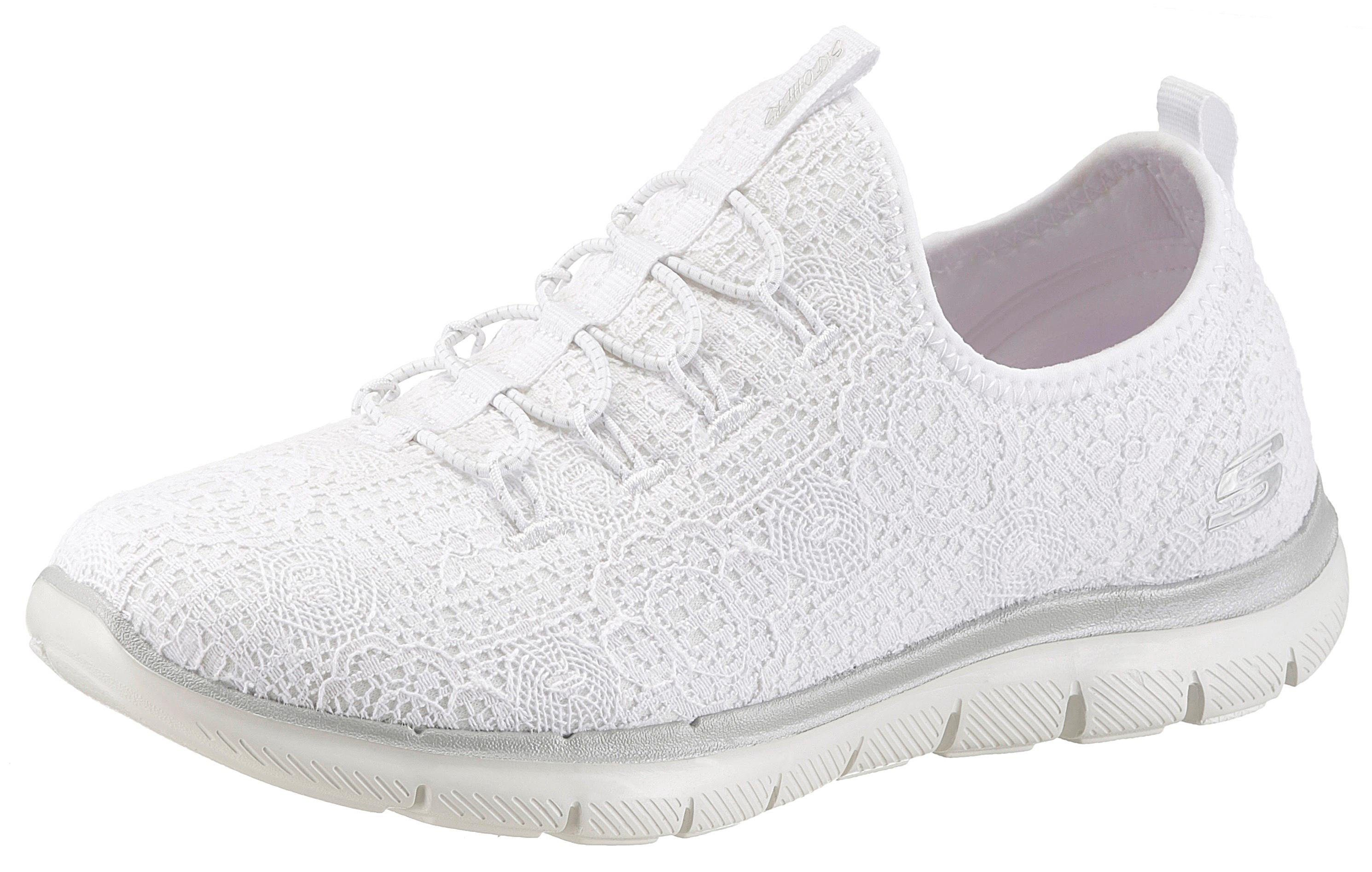 Skechers »Flex Appeal 20 Clear-Cut Slip-On Sneaker, mit Air-Cooled Memory Foam online kaufen  weiß