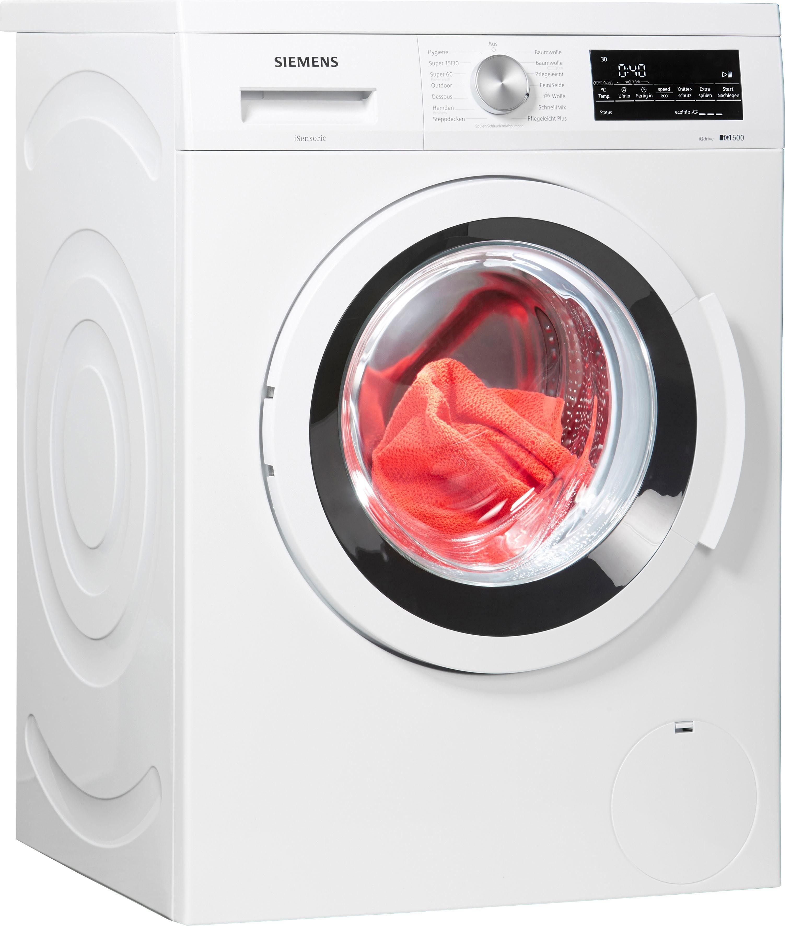 SIEMENS Waschmaschine iQ500 WU14Q4ECO, 8 kg, 1400 U/Min, Unterbaufähig
