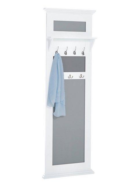 heine home Garderobenpaneel aus Massivholz weiß   04046884055251