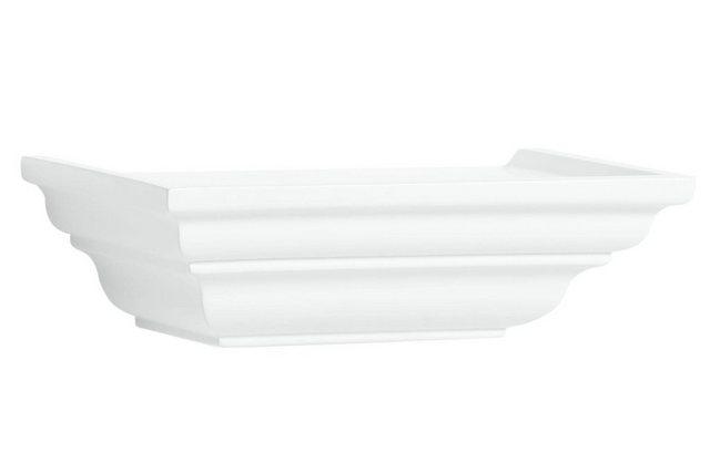 heine home Wandkonsole mit dekorativen Profilierungen weiß   04046884057996