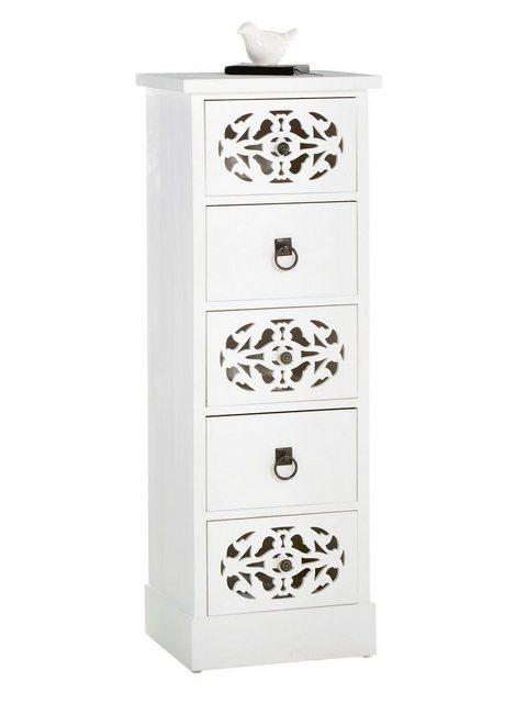 heine home Kommode mit dekorativen Ornamenten weiß   04046884055206